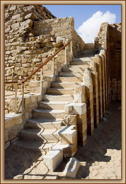 Stone Stairway at the Saqqara Step Pyramid Complex...Saqqara, Egypt