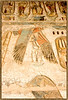 Temple of Ramesses III at Medinet Habu: Wall relief showing the goddess Nekhbet, vulture goddess and protectress of upper Egypt.
