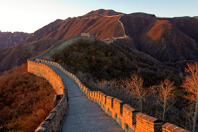 (CH-10297)  The Great Wall of China at sunset - Badaling section near Beijing.
