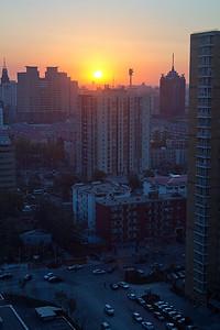 (CH-10007)  Sunrise in Taiyuan.