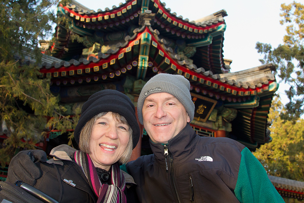 (CH-10352)  The Parhams at the Summer Palace in Beijing.