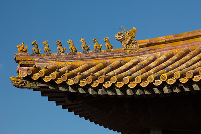 (CH-10235)  Roof detail at the Forbidden City - Beijing.