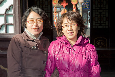 (CH-10162)  The official Robert Parham fan club in China - holding steady at two members!  These ladies, esp. Li on the left, actually played big roles in the success of the photo exhibit in Taiyuan, as well as our tours of surrounding villages.