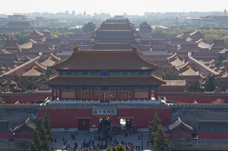 (CH-10224)  Forbidden City seen from Jingshan Park overlook - Beijing.