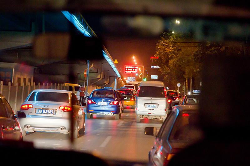 (CH-10316)  Beijing night traffic