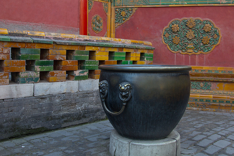(CH-10223)  Detail at the Forbidden City - Beijing.