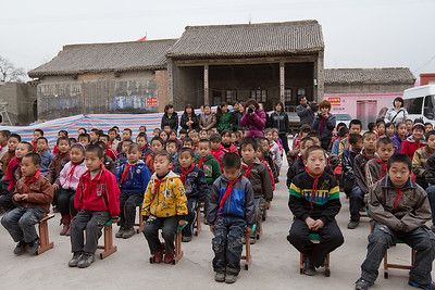 (CH-10066)  Beichang village school children at ceremony.