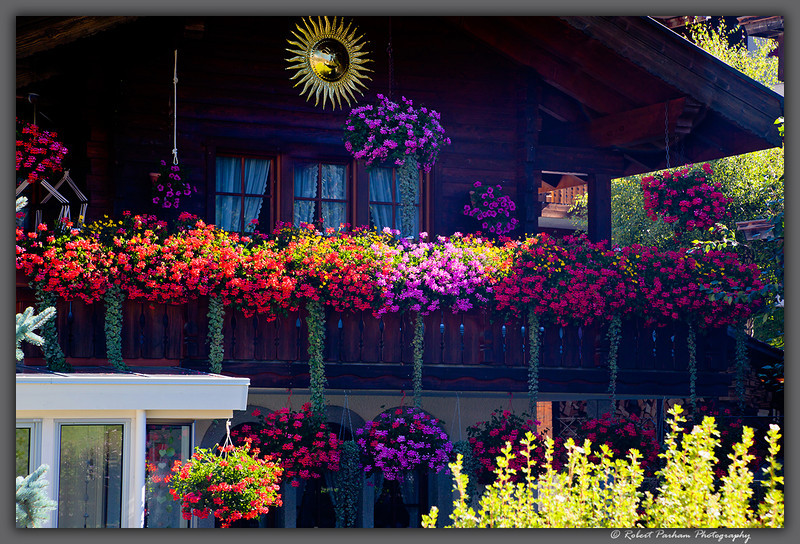 (SW-12037)  Chalet detail - Zermatt, Switzerland.