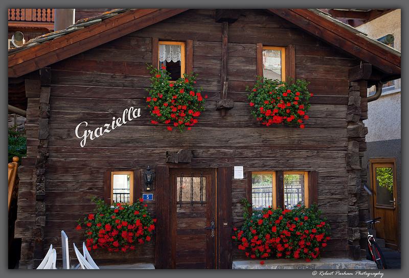 (SW-12051)  Lodge detail - Zermatt, Switzerland.