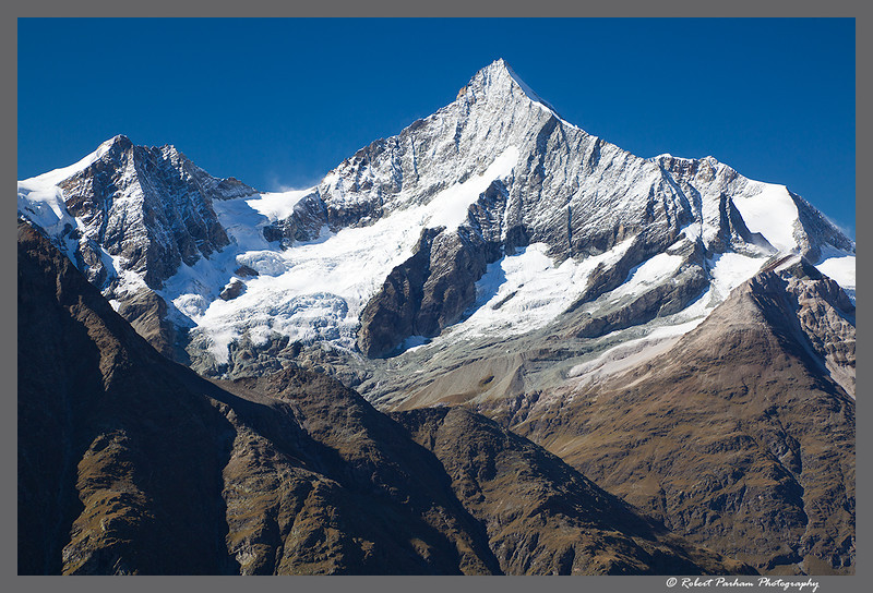 (SW-12160)  Weisshorn viewed from Rothorn above Zermatt, Switzerland.