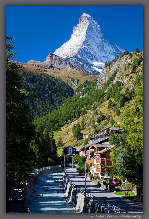 (SW-12045)  Zermatt, Switzerland at the base of the Matterhorn.