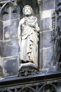 John the baptist, on the outside of the gothic addition.