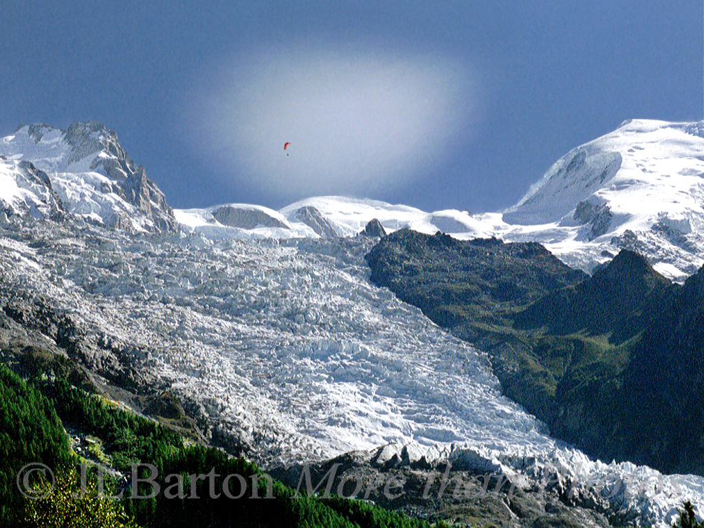 Above Mt. Blanc