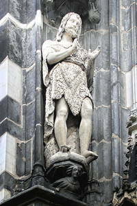 Adam, a figure on the outside of the gothic addition.