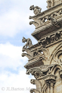 Gurgelers and Gargoyles 2012-07-04  Detail from the Cathedral Notre Dame de Paris.