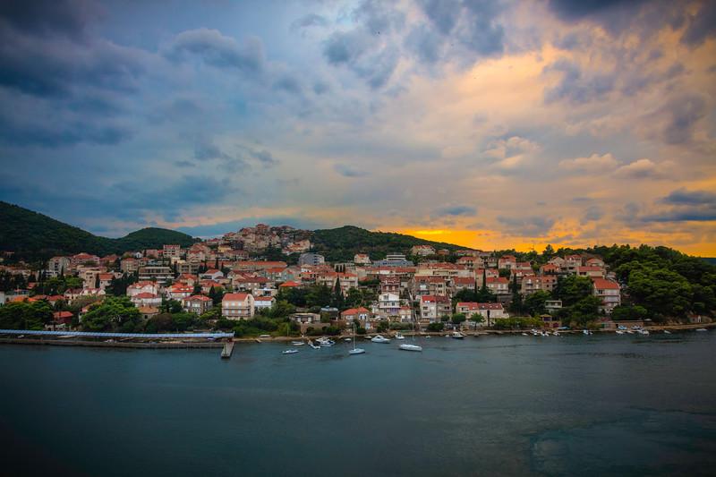 Sunset Glow Over The Bay Of Dubrovnik - Dubrovnik, Croatia