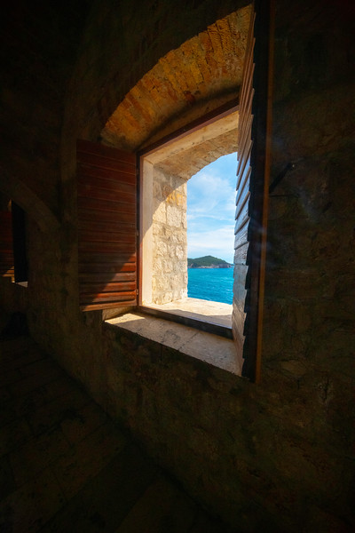 A Look Out Into The. Sea - Dubrovnik, Crotia