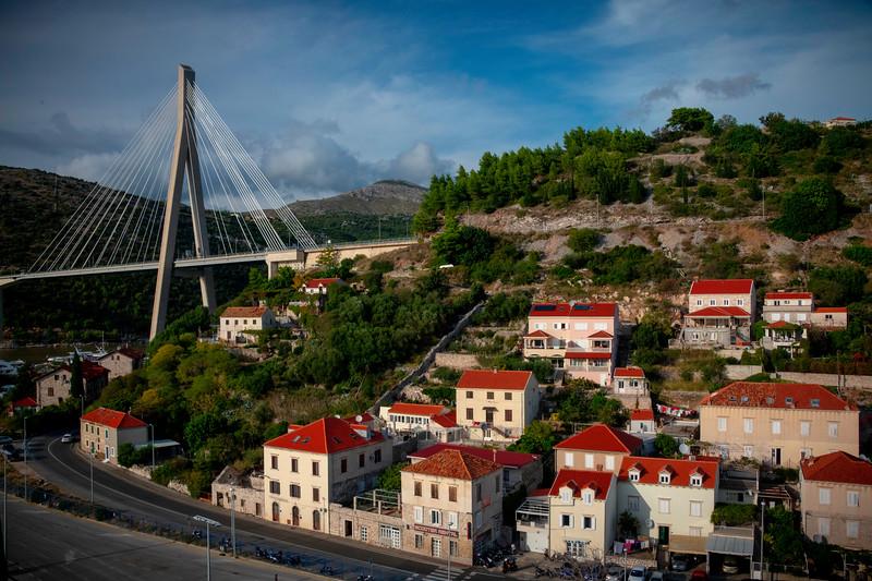 Road Leading Into The Dubrovnik Bridge - Dubrovnik, Croatia