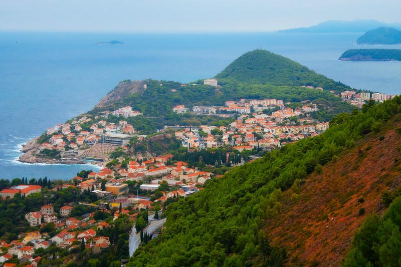 The Coastline Of Old Dubrovnik From Atop - Dubrovnik, Croatia
