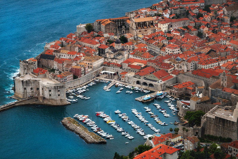 Looking Down On The Center Of Old Dubrovnik - Dubrovnik, Croatia