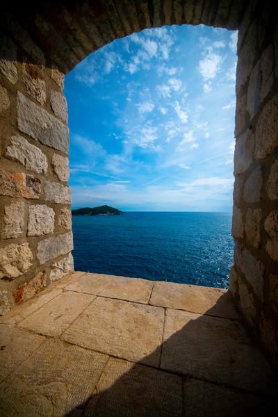 Gateway Looking Into The Blue Seas - Dubrovnik, Croatia