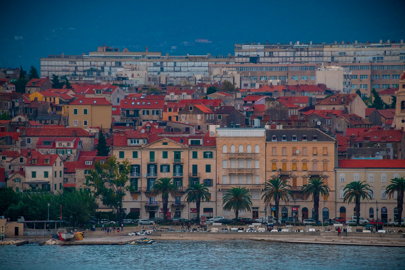 Beachfrom Houses Along Split Marina - Split Marina,  Croatia