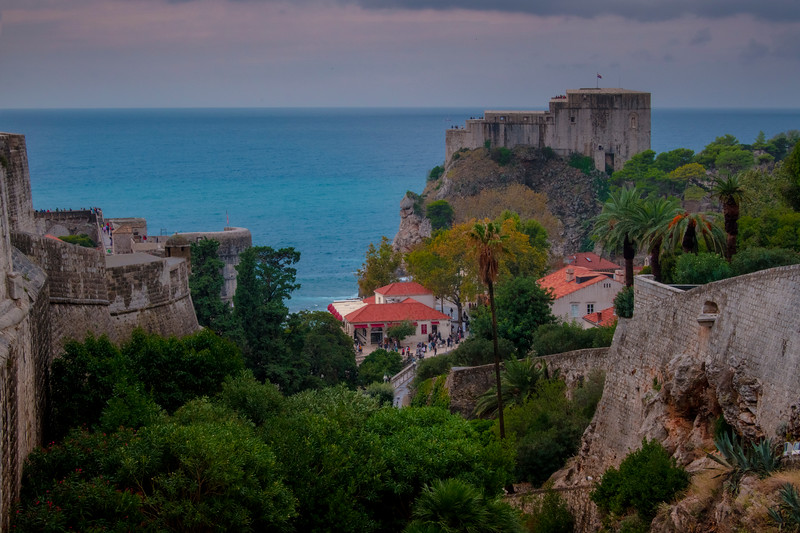 The Fort Overlooking The Old Town - Dubrovnik, Croatia