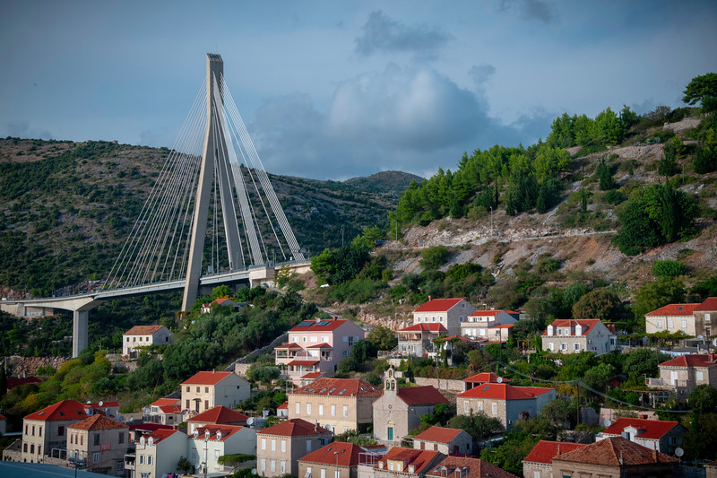 The New Dubrovnik Bridge And Hillside Houses - Dubrovnik, Croatia