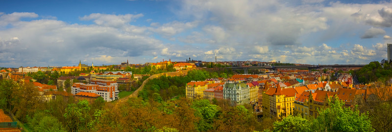 Pano View Of Prague From Vysehrad Park_Pano