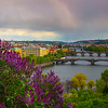 Gardens Of Letenske Overlooking Bridges Of Prague