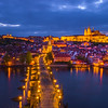Prague And The Charles Bridge In Blue Hour