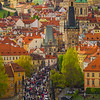 The View Looking Down On Prague From The Castle