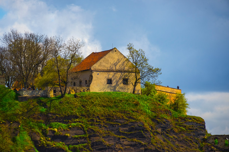 Falling House On The Cliff