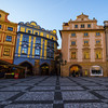 Early Morning In The Square With Color Buildings