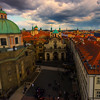 Stormy Light Hits The Roofs Of Prague