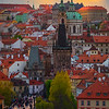 As Sun Sets On The Charles Bridge
