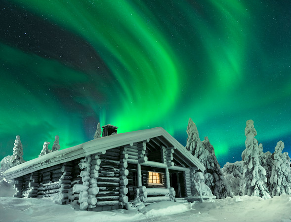 Northern Lights Cabin 2 - Finland -Iso-Syote National Park, Finland