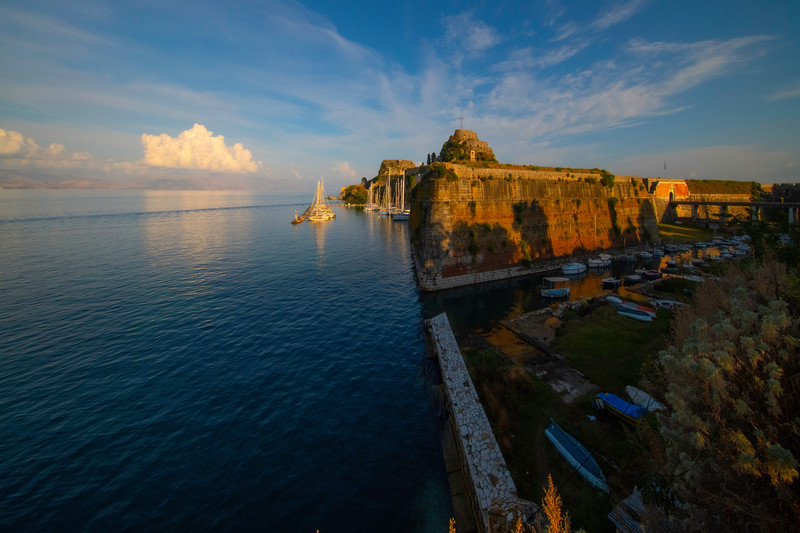 The Last Light Shining On The Old Fortress - Corfu, Greece
