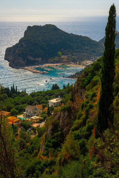Looking Down Into The Marina Near End Of Day - Corfu, Greece