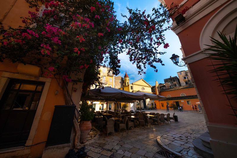 Entrance Into The Old Town Square - Corfu, Greece