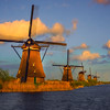 The Magic Of Last Light On The Windmills