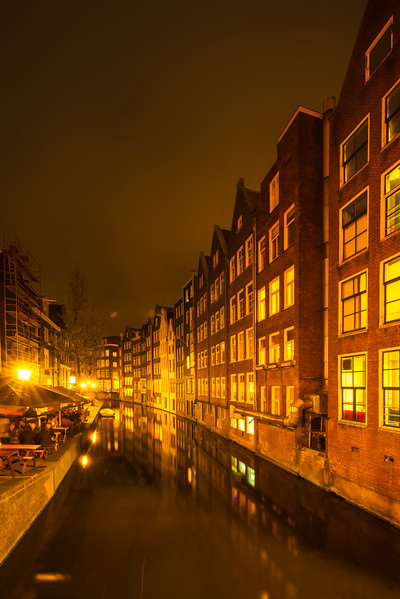 Reflections At Night Of The Canal Houses