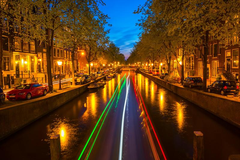 Boat Traffic At Night