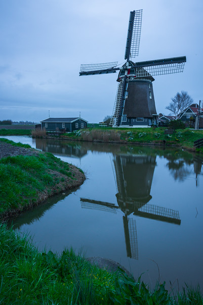 Cool Evening Of Windmill