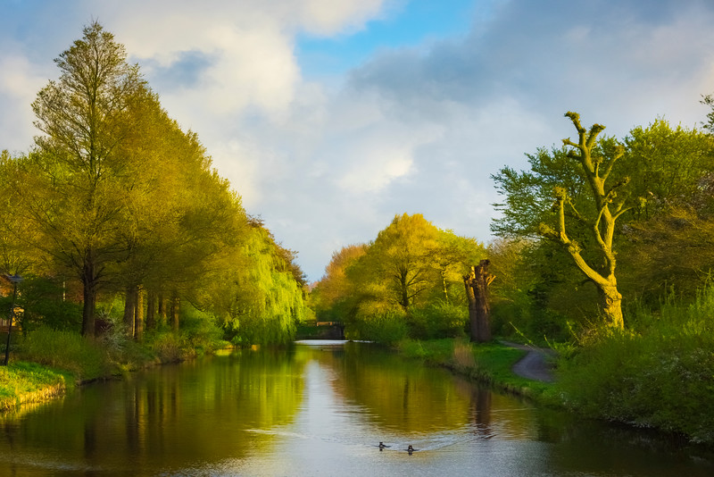 One Of The Stunning Canals Of Holland