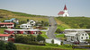 Vík township, with its iconic church