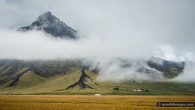 Clearing storm in the Steinadalur valley