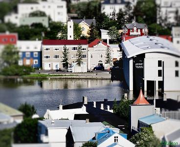 Reykjavik Center Lake Tjornin