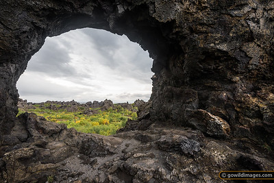 Natural features in Dimmuborgir lava field