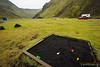 Sand pits are black in Iceland! Þhakgil campground